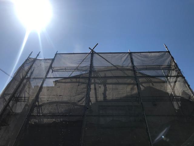 豊中市の外壁・屋根塗装工事順調に進行しています